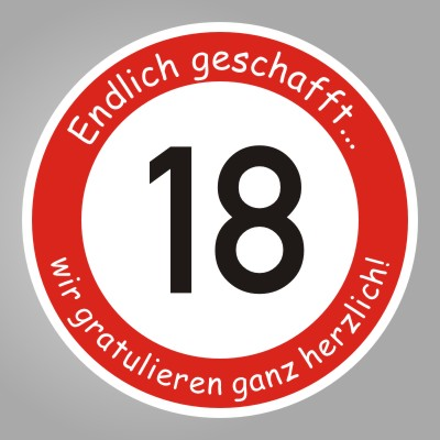 funny sign schild 18 geburtstag geschenk. Black Bedroom Furniture Sets. Home Design Ideas