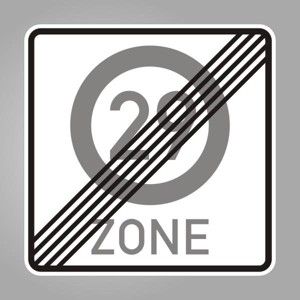 funny sign zone ende 29 schild zum 30 geburtstag ab 42. Black Bedroom Furniture Sets. Home Design Ideas