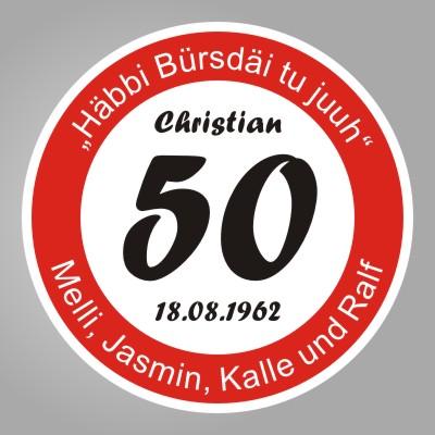 FUNNY SIGN ,Echtes Verkehrsschild zum 50. Geburtstag ...